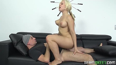 Bouncing on cock latina Blondie Fesser likes it a lot