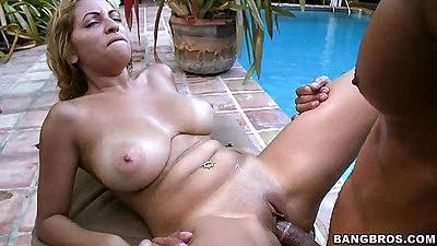 Big tits Jazmyn fucked while tits jiggle