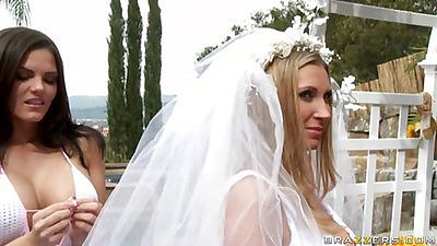 Babe with boobs at a wedding getting shafted for last time