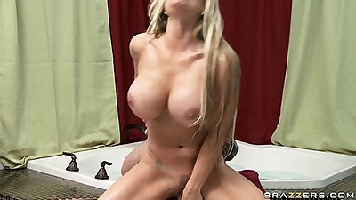 Nice romantice milf and young dude sex in bathroom
