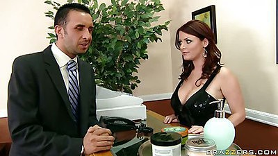 Big tits at work Sophie Dee comes in with big tits
