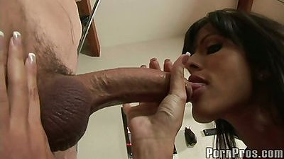 Shy Love deepthroats cock and titty fuck