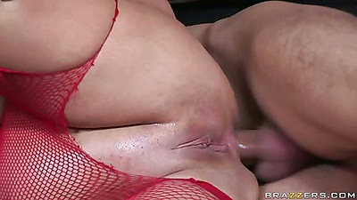 Sideways shaved pussy and anal penetration for Cathy