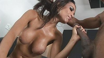 Cute latina hotties get some big black cocks