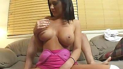 Jayden James gets her big tits squeezed hard