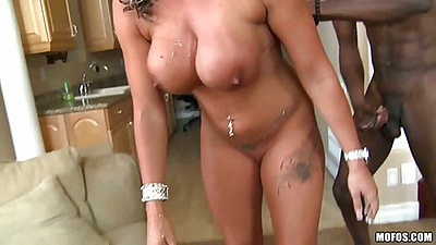 Doggy style interracial milf pussy penetration