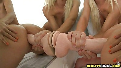 Playing around with anal fucking a dildo