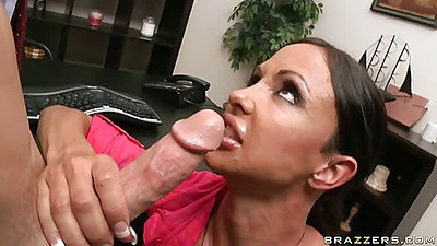 Big tits office whore Jewels licking some balls