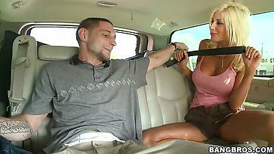 Blowjob from big tits Puma Swede in the car