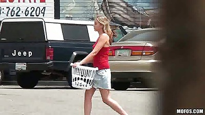 Pervert on patrol at the laundromat