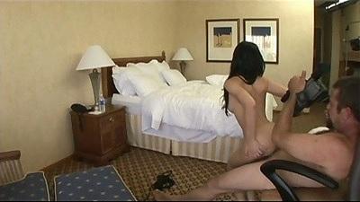 Reverse cowgirl hardcore sex
