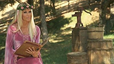 Sexy Tanya Tate goes down on fairy tale hero