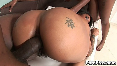 Doggy style ebony ass anal with ass to mouth