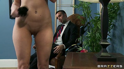 Nice ass shaved pussy milf Victoria Lawson dresses up like a maid