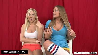 Two sexy lesbian cuties Nickey Huntsman and Tasha Reign going to the beach