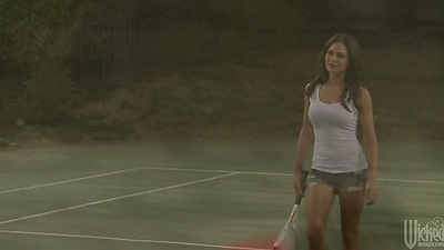 Tennis star Kirsten Price goes for a nice sexual shower