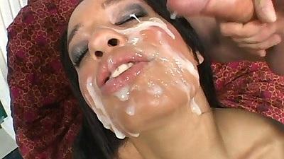 Facial facial facial nice that bitch Aliana Love took it well