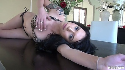 Callie Cyprus rolling around and touching that tight body