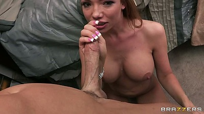 Handjob and titty fuck with a blowjob from Maya Hills