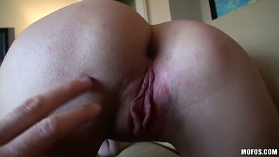 Fingering amateur ass Mandy Haze and pov blowjob