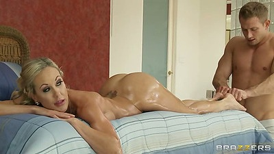 Oil massage with sexy Brandi Love and her perfect big tits body