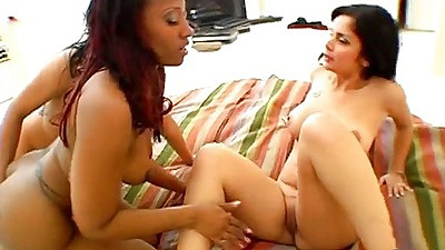 Anell and Cherokee D Ass with Olivia O in group sex