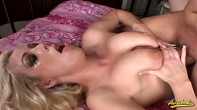 Titty fucking natural tits Adrianna Nicole with bukkake cum covered face