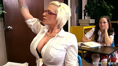Milf teacher and student staying after hours for Tiffany Mynx