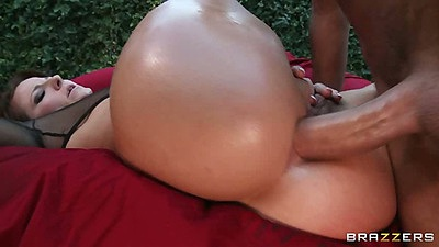 Anal sex with hardcore milf penetration Casey Cumz outdoors