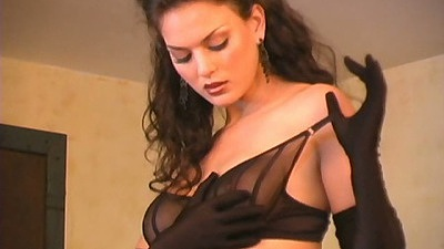 Betcee May takes off her cute top and walks around bras and panties