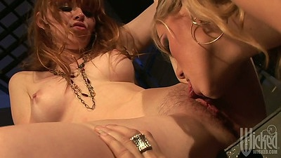Pussy licking clean trimmed pussy lesbians Nicole Ray and Marie McCray