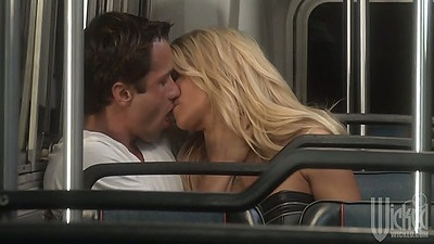 jessica drake and Angelina Ashe hitting the bus for group sex