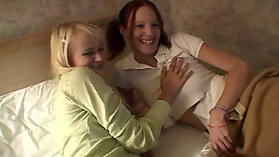18 year old teen twins Milton Twins making out on bed