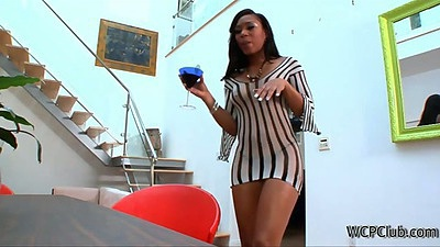 Charlie Baltimore and ebony babe shaking ass and taking off underwear