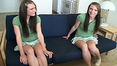18 year old teen twins Simpson Twins wearing bras and panties