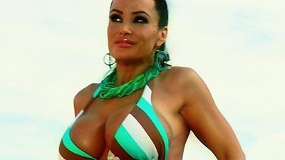Big tits bikini milf Jenna Presley and Lisa Ann making out naked by the pool