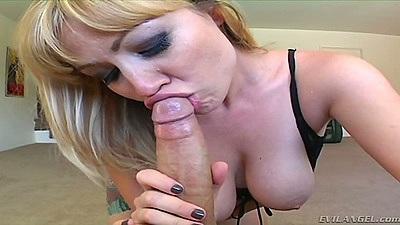Pov natural tits blowjob with Adrianna Nicole