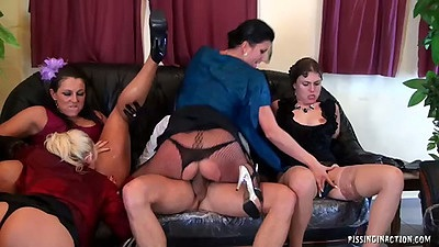 Cowgirl sex with Johane Johansson and Celine Noiret and Bella Morgan