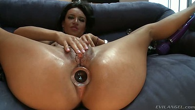 Anal butt plug with solo masturbation