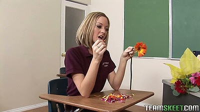 Scarlett Fay being naughty in class in front of teacher
