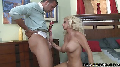 Big tits milf gets on all fours to get doggy rammed
