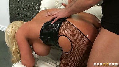 Oiled up big ass doggy style with Alura Jenson