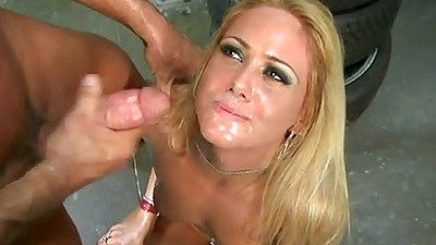 Facial cumshot ejaculation with various angles