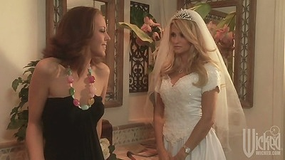 Nicole Ray having a wedding and dancing dressed like a bride