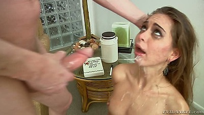 Riley Reid and Francesca Le rough sex facial deep throat blowjob