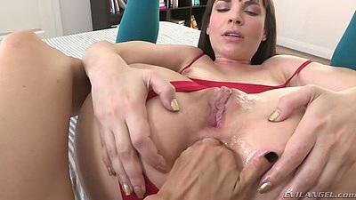 Ass fingering fisting with Dana DeArmond and Dana Vespoli in lesbian feet action