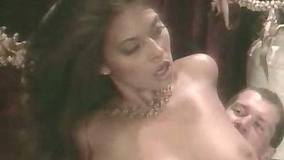 Sexy vintage babe big tits Tera Patrick sits on dick