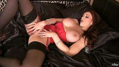 Danielle spreading her legs and softcore masturbation