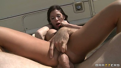 Reverse cowgirl latina breaking bad scene fuck with Aleksa Nicole