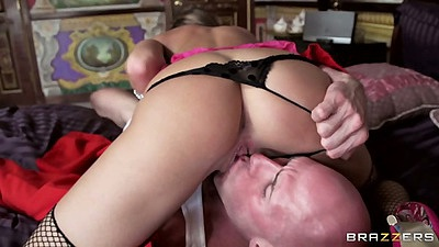 Pulled aside panties 69 with lingerie milf Juelz Ventura and rear entry